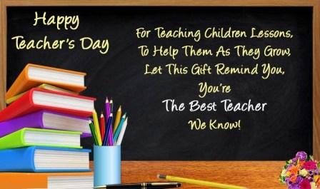Happy Teachers' Day Greetings