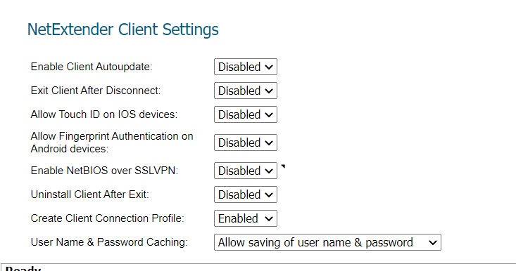 netextender client settings sonicwall