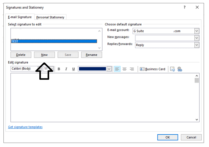 add email signature in outlook