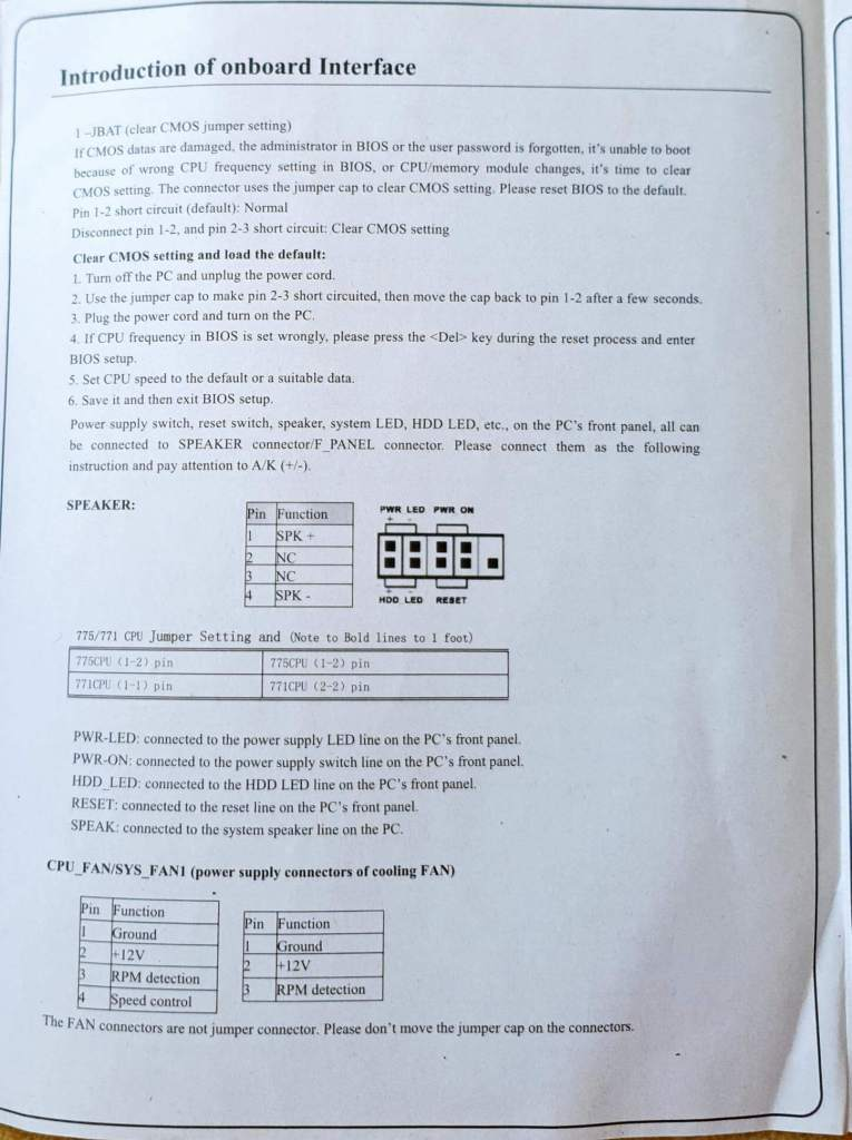 consistent g31 motherboard manual page 4