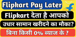 Flipkart pay later Kya hai, फ्लिपकार्ट पे लेटर क्या है, Pay Later Flipkart, What is flipkart pay later in hindi, Buy now pay later, Pay later in hindi