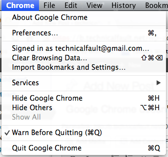 Warn Before Quitting in Chrome