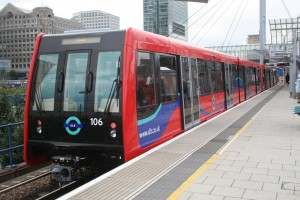DLR B07 rolling stock...