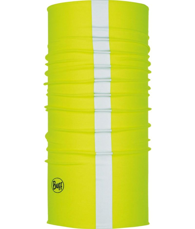 "Studio photo of the Coolnet UV Plus Buff® Design ""R-Solid Yellow Fluor"". Source: buff.eu"