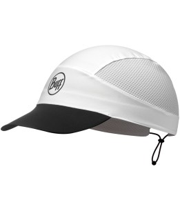 "Studio photo of the BUFF® Pack Trek Cap Design ""Reflective Solid White"". Source: buff.eu"