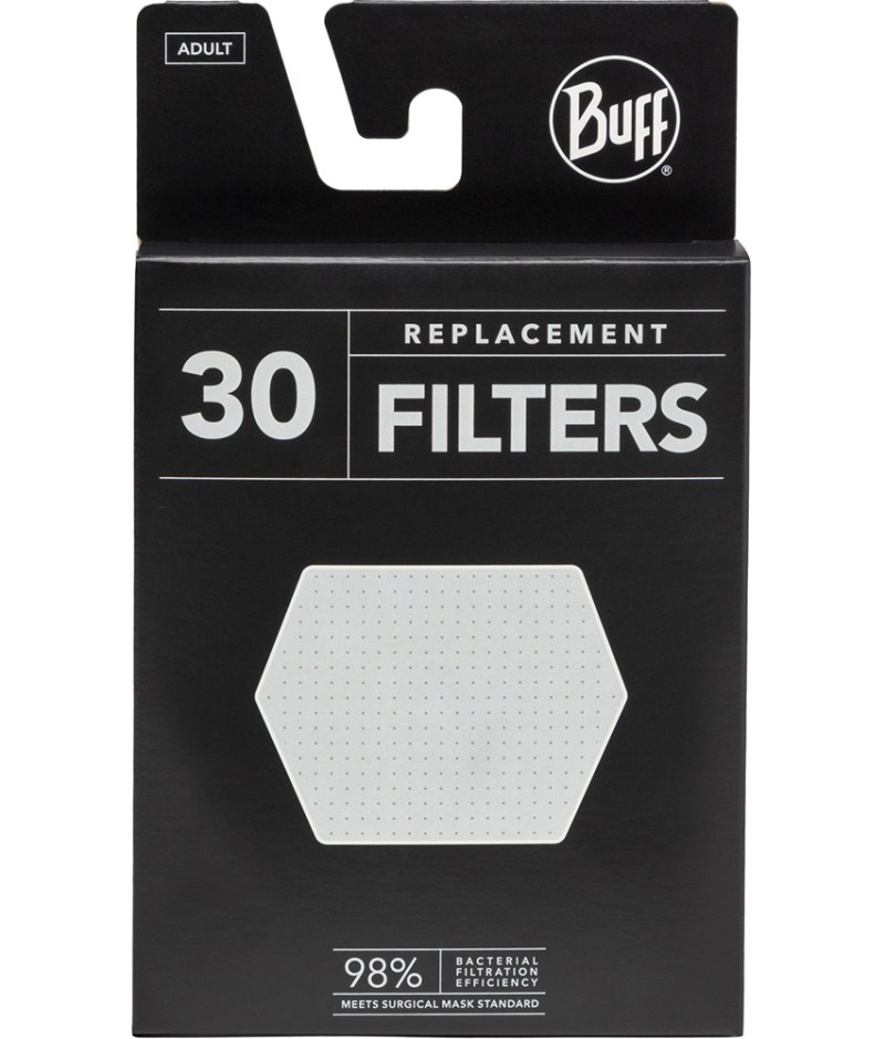 A studio photo of the BUFF® Filter Mask Replacement Pack. Source: buff.eu