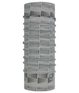 "Studio photo of the BUFF® Lightweight Merino Wool Multifunctional Headwear Design ""Relay Grey"". Source: buff.eu"