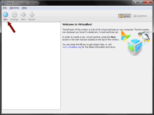 VirtualBox - New Virtual Machine