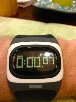 The timer for the length of your current run.