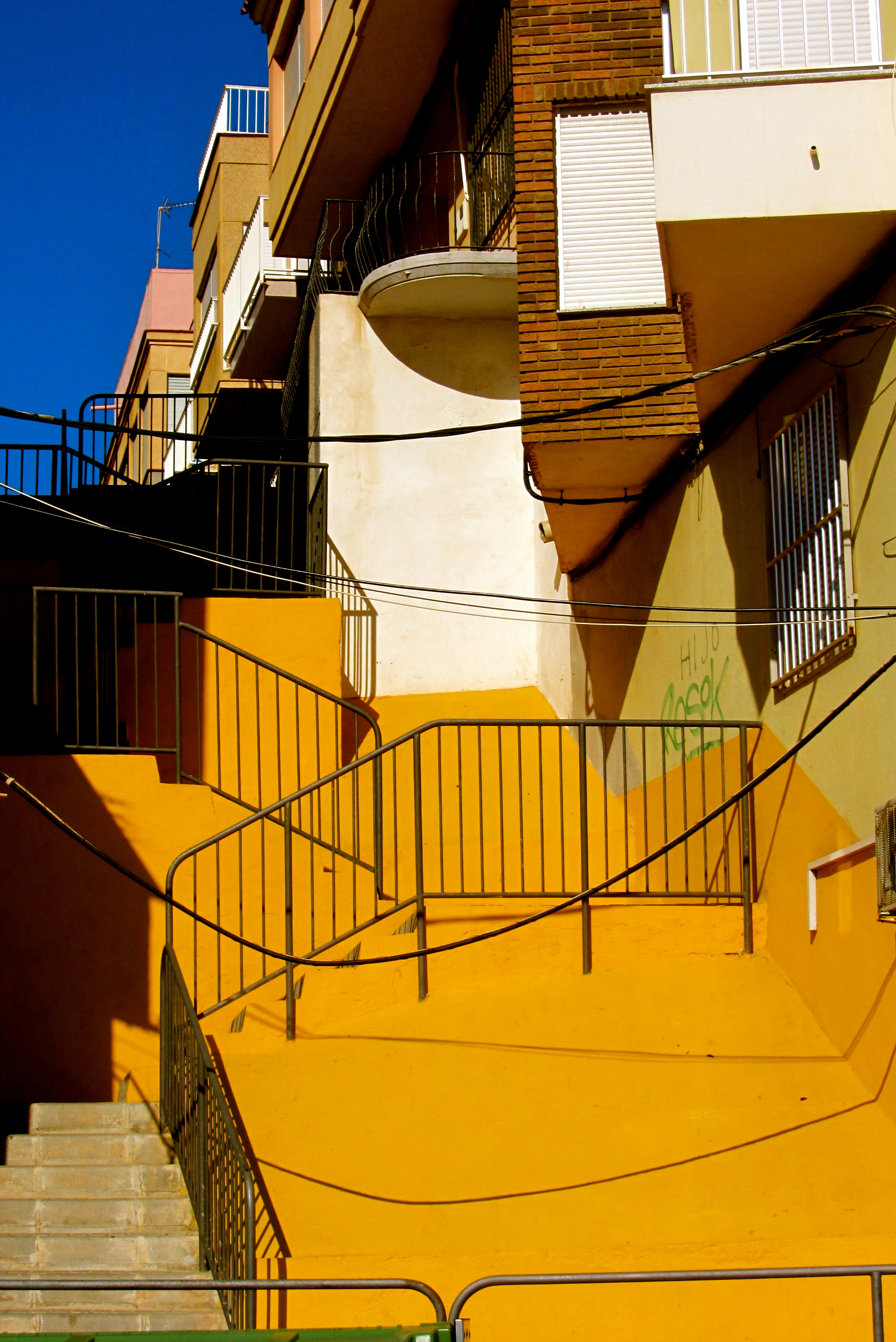 Yellow stairs Aguilas Spain - TN