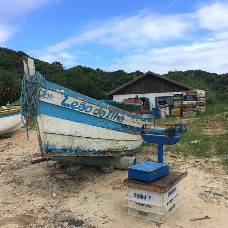 Boat Brazil plastic fishing nets