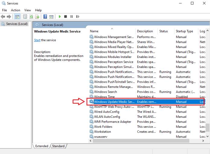 Windows 10 update services