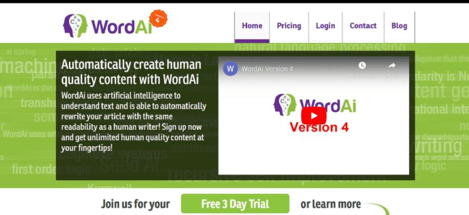 WordAi - QuillBot Alternative