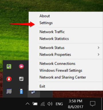 add Network Connection icon in Windows 10