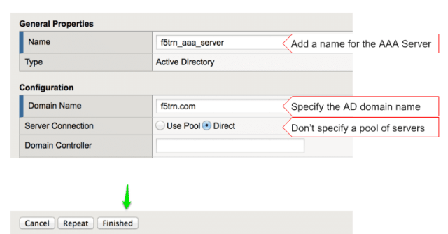 Authenticating LTM User through APM