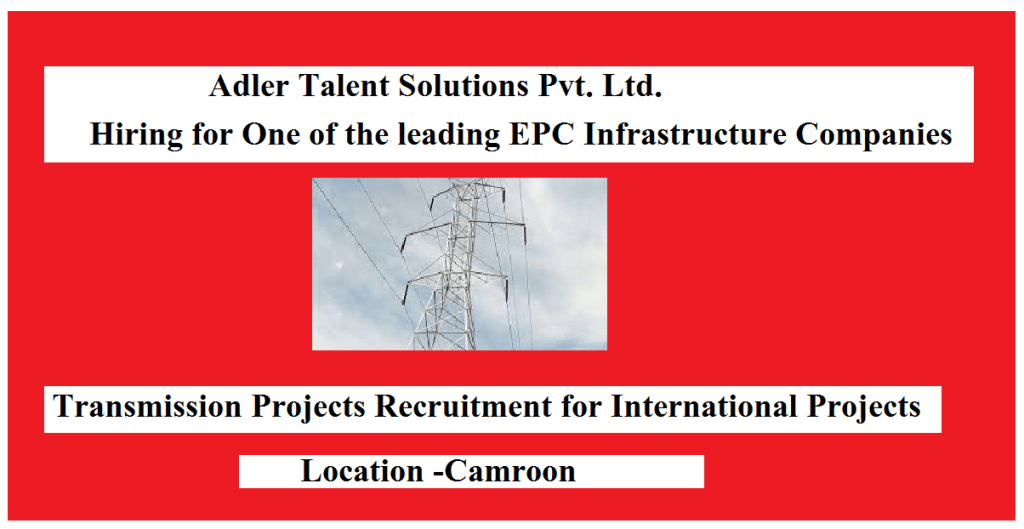 Job Highlights International exposure is also preferred African experience is preferred BE Civil with 10+ years of experience in Transmission line projects Your Job Match Score Early ApplicantKeyskillsLocationWork Experience Your profile is missing the skills required for this job. Take these courses to increase your chances of getting hired. Construction ManagementSite ManagementProject ManagementCivil Project ManagementTransmission Job description Roles and Responsibilities Project management for Transmission line projects Prepares or assists in the preparation of conceptual studies, designs, reports, or proposals. Prepares and/or assists in the preparation of cost estimates, quantity take-offs, and staffing requirements for proposals, forecasts, and trends/ change orders. Civil Engineer Planning, Billing, Site execution, Presentation. Reviews bid analyses and makes a recommendation. Desired Candidate Profile BE Civil with 10+ years of experience in Transmission line projects African experience is preferred International exposure is also preferred RoleCivil Engineer-Land Development Industry TypeOil and Gas, Energy, Power, Infrastructure Functional AreaSite Engineering, Project Management Employment TypeFull Time, Permanent Role CategorySite Engineering Education UG :B.Tech/B.E. in Civil Key Skills T/LTransmission LineTL Site ManagementConstruction Managementsite managerproject managerProject ManagementCivil Project ManagementTransmission Skills highlighted with '' are preferred keyskills Report this Job About Company Recognized by Silicon India Magazine among Top 10 Non-tech HR Service Providers in India and by The Leaders Globe Magazine as India's top 10 Innovative HR Management Company. Adler Talent Solutions is a boutique HR service provider specializing in recruitment, contract staffing, and HR advisory services. Inspired by the agility of Eagle, Adler assists global conglomerates in finding the right talent and taking care of routine HR operations. We cater 