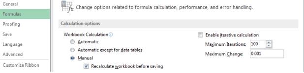 Repair Corrupted Excel file using Formula setting