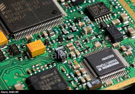 Printed circuit board with components mounted