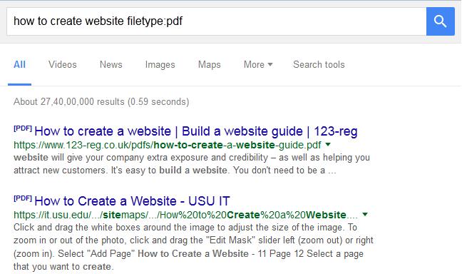 google search tricks pdf hack