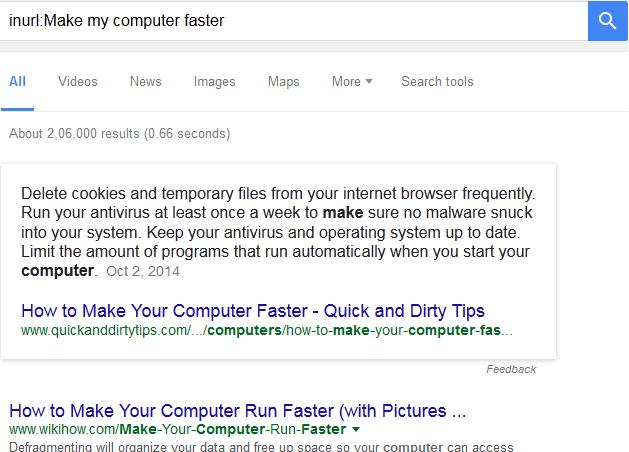 google search tricks inurl