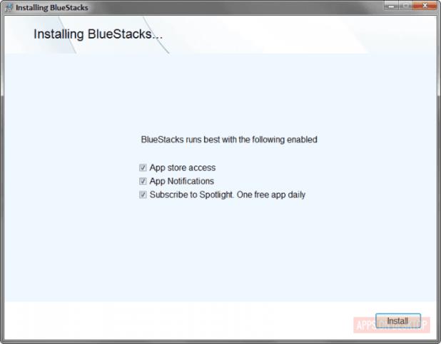 Installing bluestack on windows 7