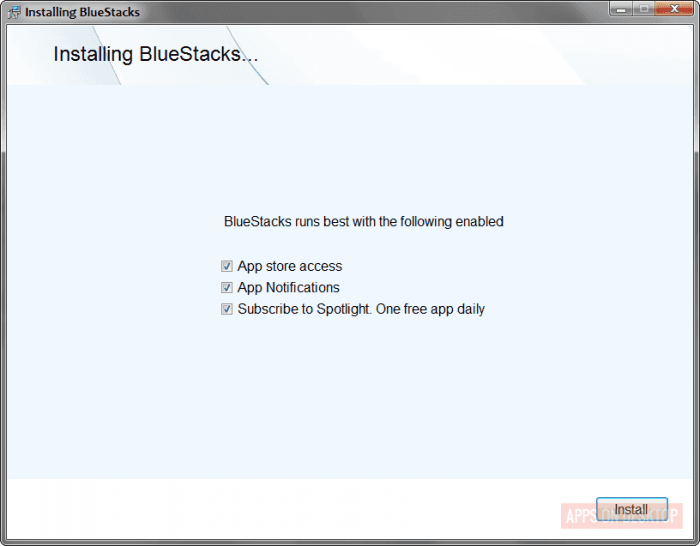 Installing bluestack on windows 7