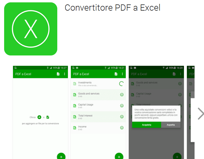 Convert PDF file Into Excel in Android Mobile