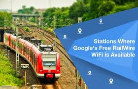 Station where free railwire wifi is available