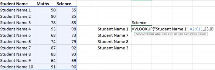 Excel Vlookup Example