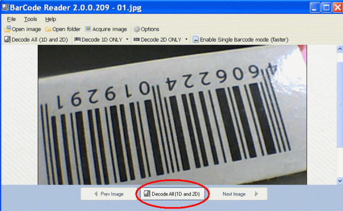 ByteScout BarCode Reader for PC