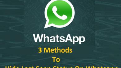 How to Hide Last Seen Status on Whatsapp