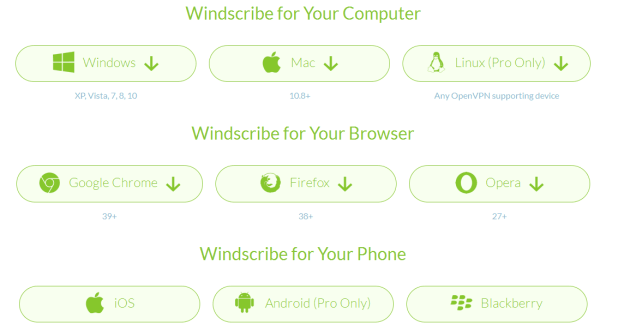 Download Windscribe
