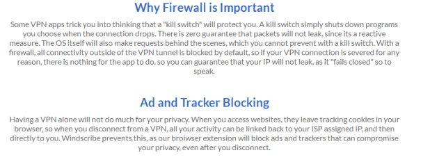 Windscribe VPN review -Ad and Tracker Blocking