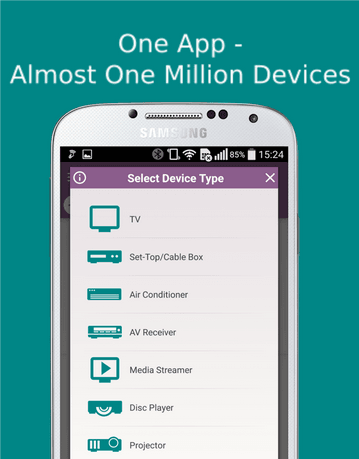 best free IR universal remote control app for Android
