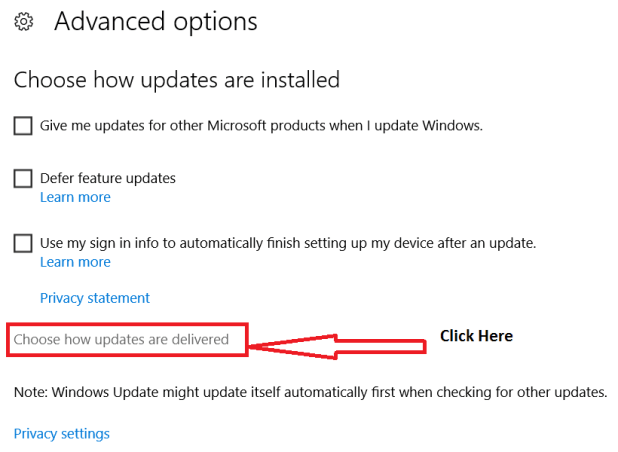 Windows Update Delivery