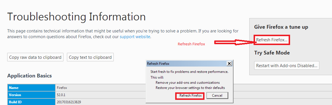 Refresh Firefox after deleting malware