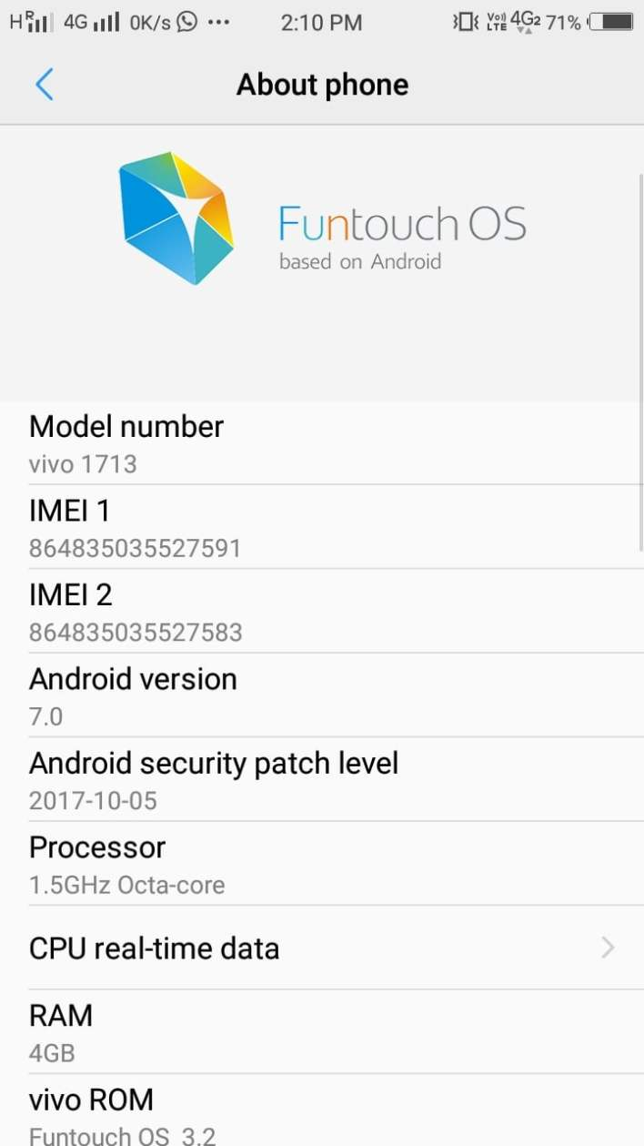 Check IMEI using Setting
