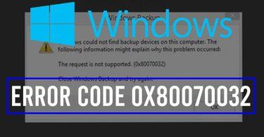 Error code 0x80070032