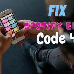 Spotify Error Code 4