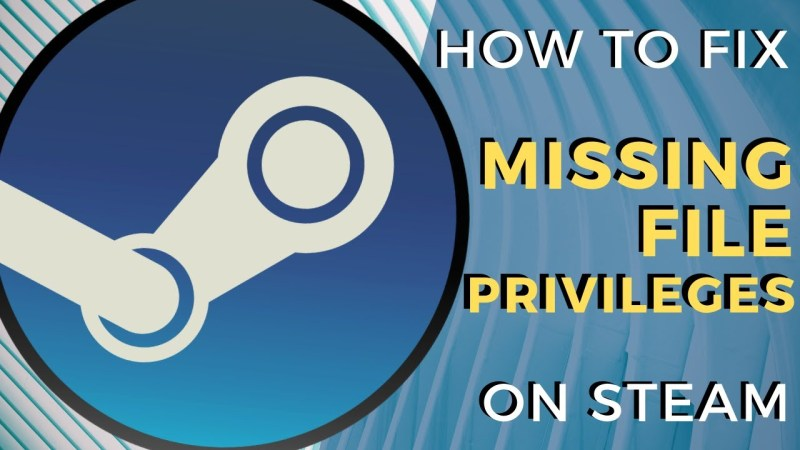 How to fix Missing file privileges Steam error?