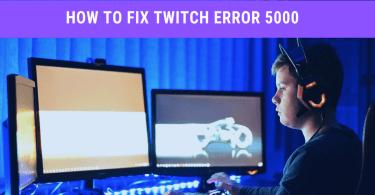 Twitch Error code 5000