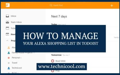 How to manage your Alexa Shopping list in Todoist