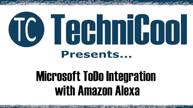 Integrate Amazon Alexa with Microsoft To-Do