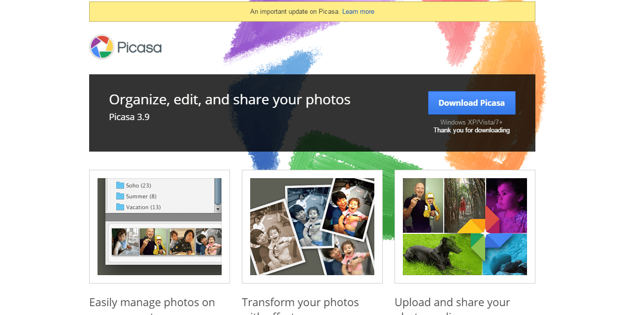 Google to End Support For Picasa