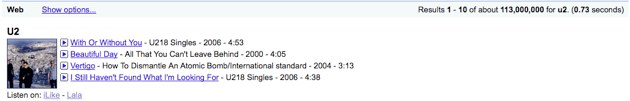 TechCrunch Screenshot of Google Music Service