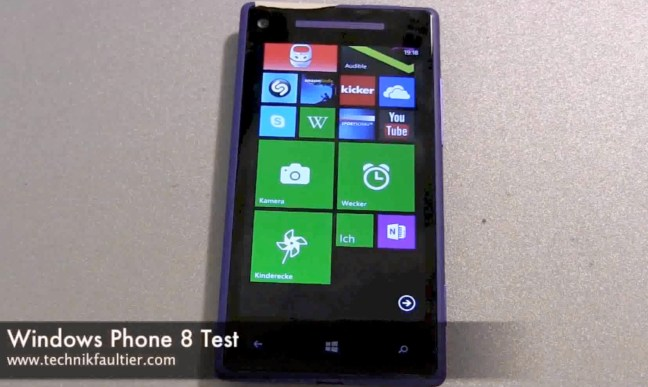 Windows Phone 8 Test