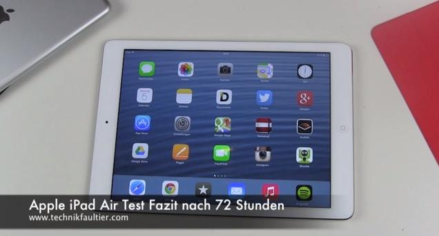 Apple iPad Air Test Fazit nach 72 Stunden