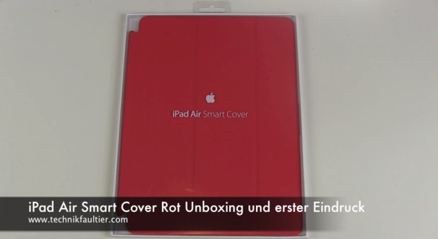 iPad Air Smart Cover Rot Unboxing und erster Eindruck