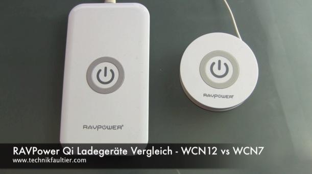 RAVPower Qi Ladegeräte Vergleich WCN12 vs WCN7