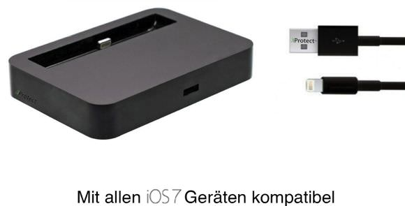 iphone 5 lightning dock f r 6 98 inkl versand bei amazon. Black Bedroom Furniture Sets. Home Design Ideas